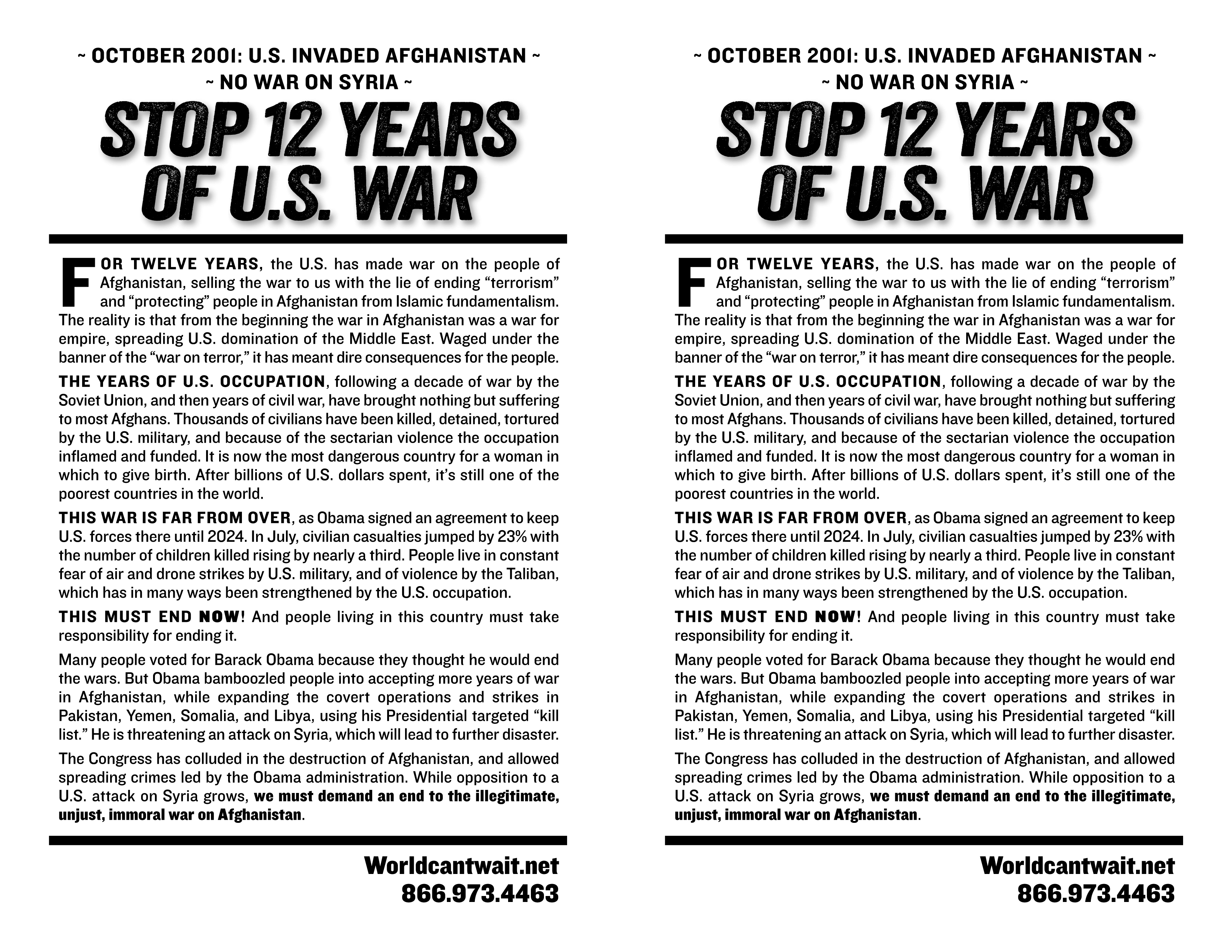 Protest: No War on Syria