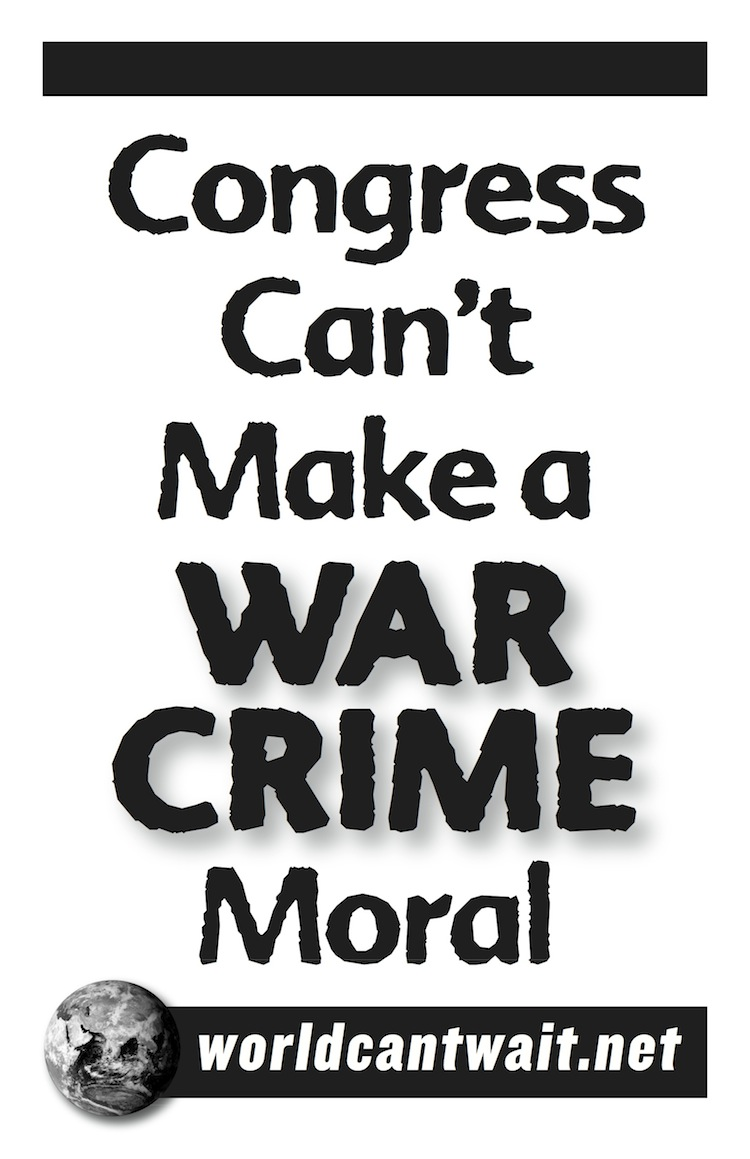 Congress can't make war crimes moral