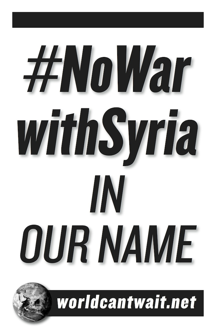 #NoWarWithSyria
