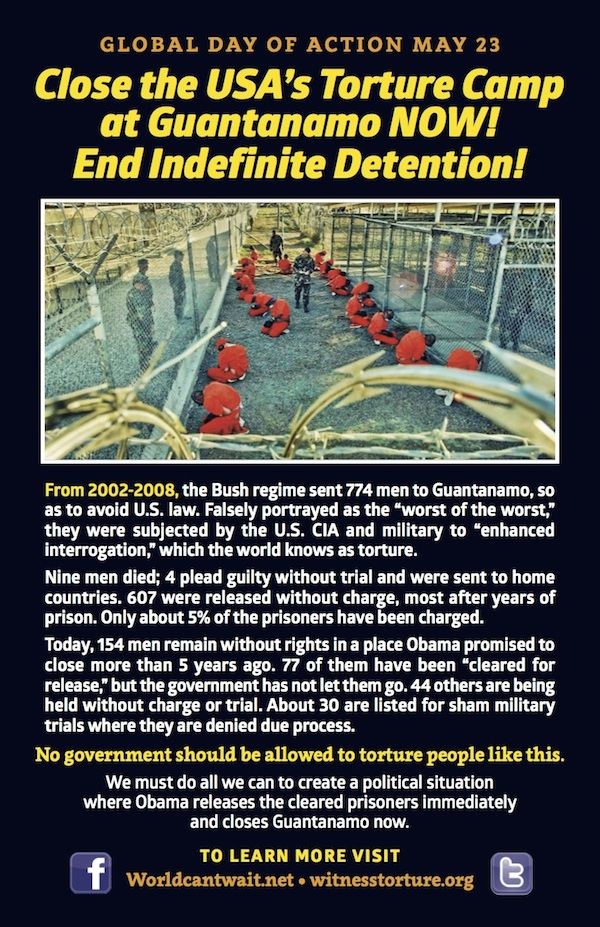 Close Guantanamo Day of Action May 23rd