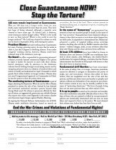 Flier of NYT Ad: Stop the Torture! Close Guantanamo! End the War Crimes and Violations of Fundamental Rights!