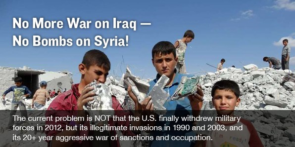 No MORE War on Iraq