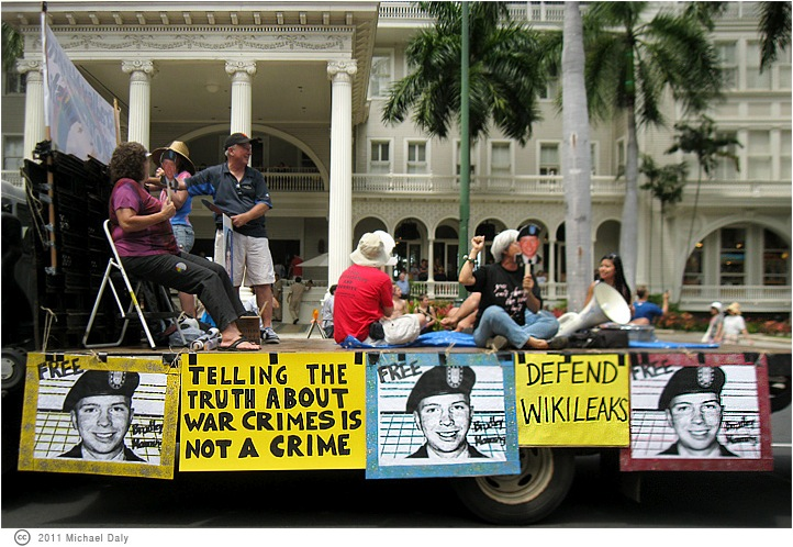 Hawaii Protest for Bradley Manning