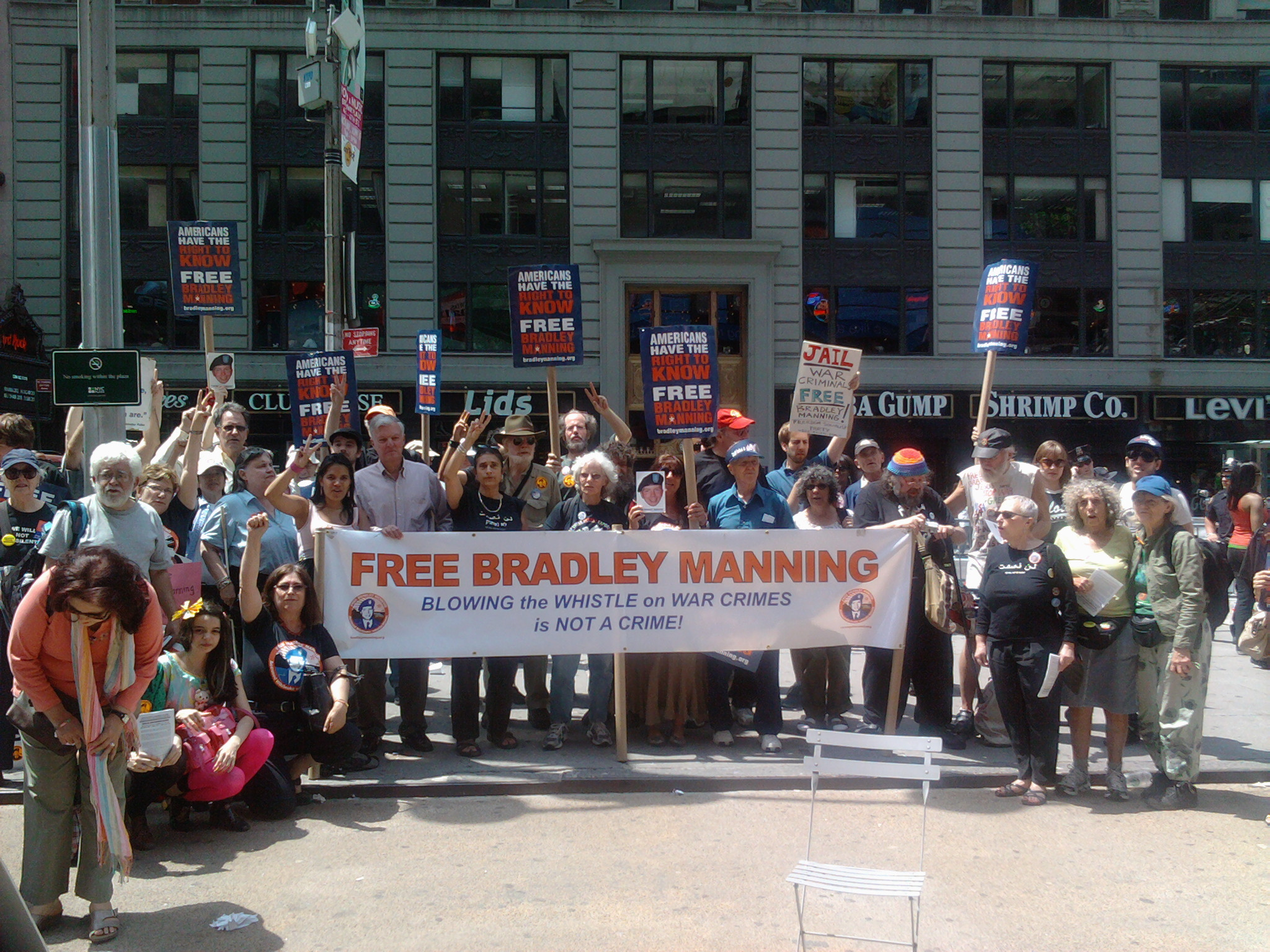 Rally for Bradley Manning, NYC