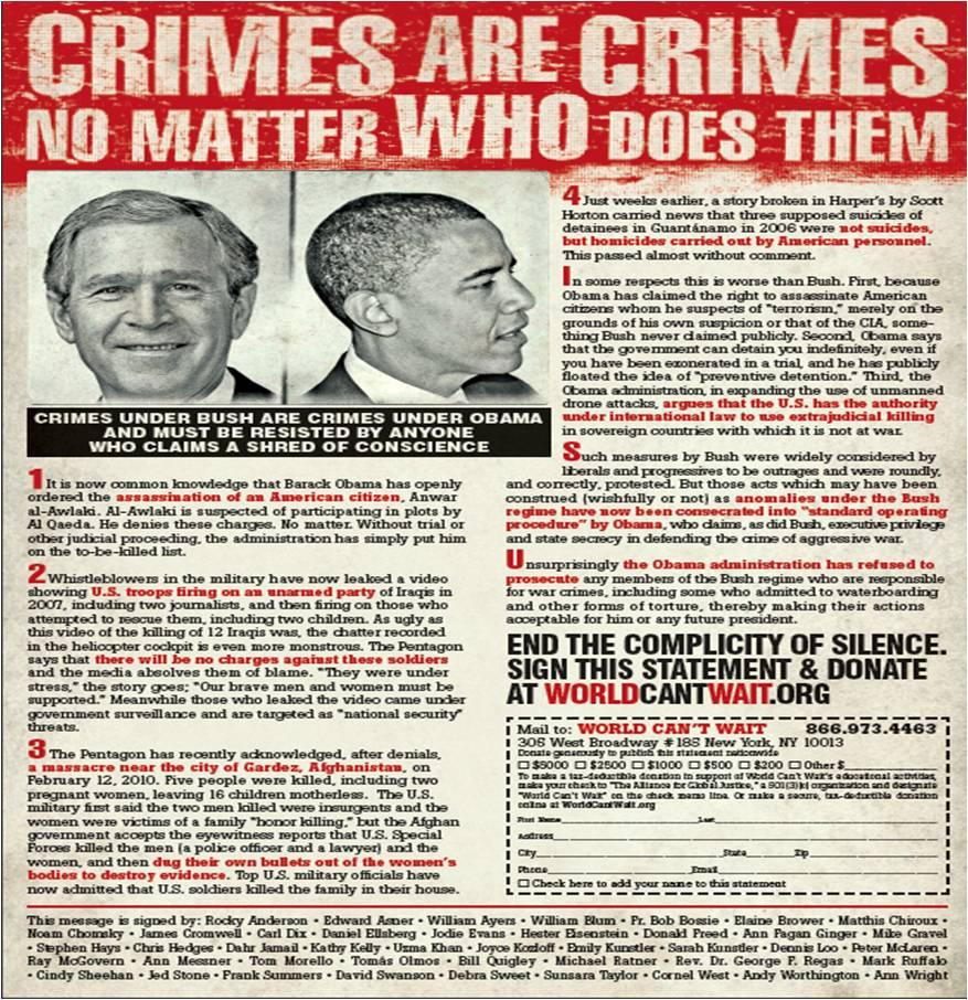 Crimes Are Crimes