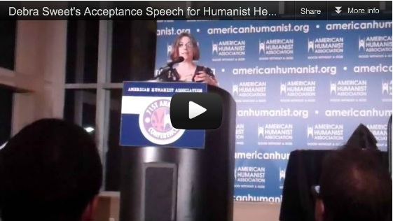 Debra Sweet at the American Humanist Association