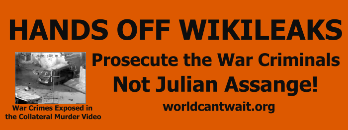 Prosecute War Criminals Not Julian Assange!