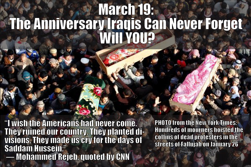 March 19: the tenth anniversary of the invasion of Iraq