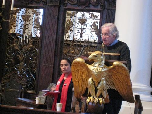 Malalai Joya and Noam Chomsky