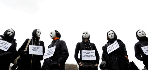 Masked Protests of War