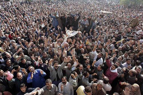 Egypt crowd scene