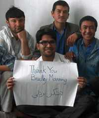 Afghan Peace Volunteers Thank Bradley Manning