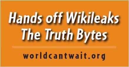 Wikileaks sticker orange
