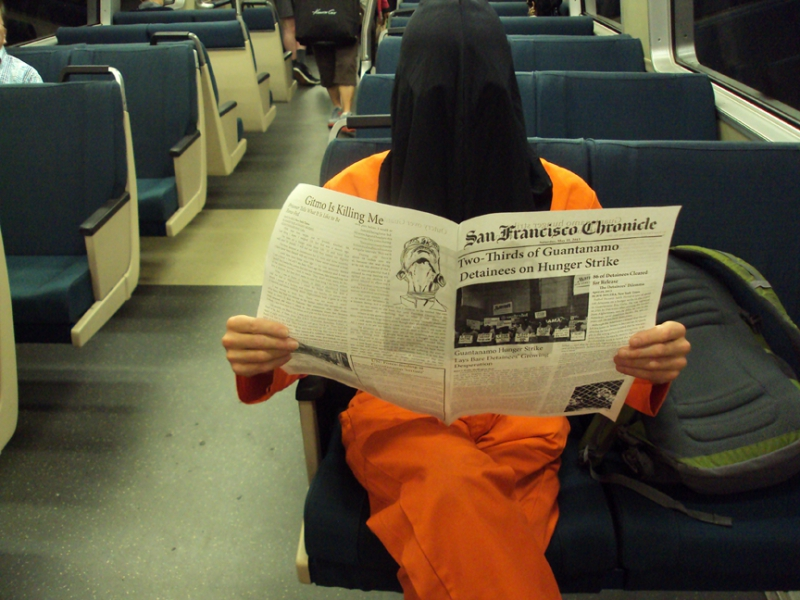 Protesting Gitmo on BART