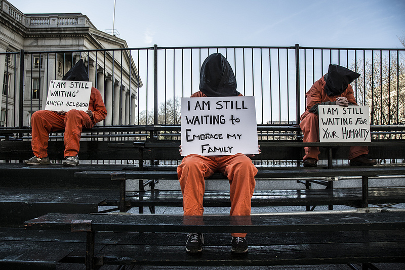 Protesting torture - close Guantanamo, free the hunger strikers