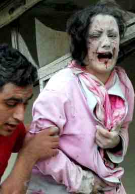 Young Palestinian woman, victim of Israeli bombing